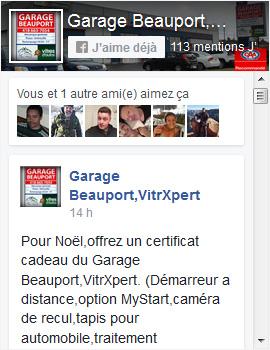 Facebook Garage Beauport Inc